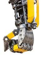 delar av metallrobot foto