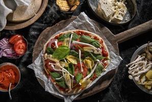 veggie pizza foto