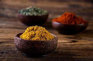 asiatisk het tema med kryddor foto