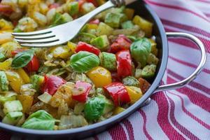 ångkokta grönsaker foto