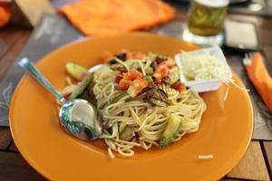 spaghetti med grönsaker