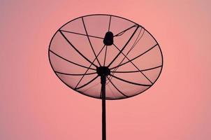 parabolantenner för telekommunikation foto