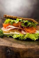 smörgås med bacon foto