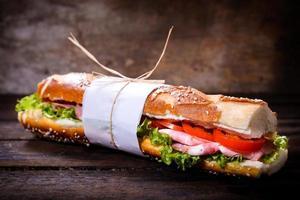 lång gourmet smörgås foto