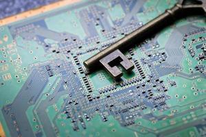 dator, lösenord och virussäkerhetsskydd från hacking foto