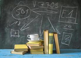 böcker, utbildning, lärande, naturvetenskap foto