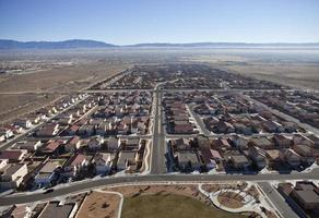 västra us förorts sprawl antenn foto