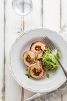 bacon och kycklingrulle foto