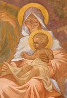 banska bela - fresken av madonna foto