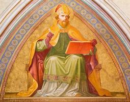 vienna - fresco av helgon Augustin foto