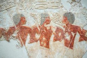 forntida egypt artefakt - ägyptisches fresko foto
