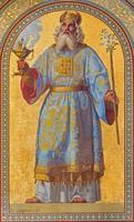 vienna - fresco av högpräst aron foto