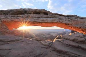 mesa arch soluppgång foto