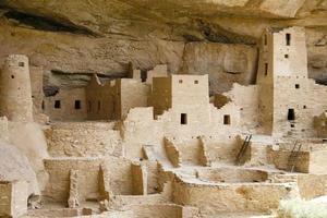 indisk stad i Mesa verde foto