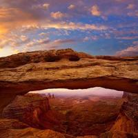 mesa arch i canyonlands national park utah usa foto