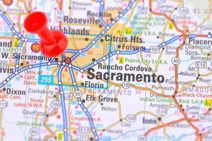 karta över Sacramento foto