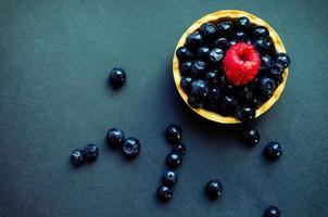 blåbär tårta foto
