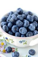 färska blåbär foto