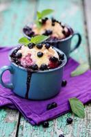pajer med blåbär foto