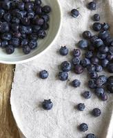 blåbär på linne foto