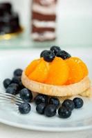 blåbär grädde cupcake