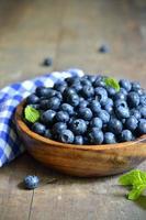 mogen organisk blåbär. foto