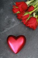 hjärta ros kärlek foto