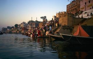Ganges River India foto