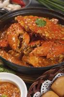 singapore chili krabba foto