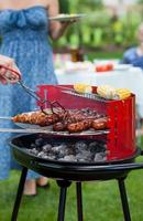 sommar grillfest foto