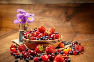 färska sommarbär foto