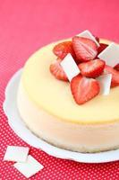 vanilj jordgubbostkaka foto