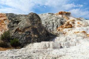 Yellowstone nationalpark, mammut varma källor foto