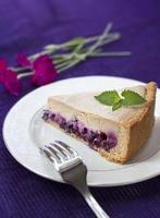 kaffekaka med blåbär foto