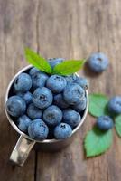 blåbär på gammalt trä