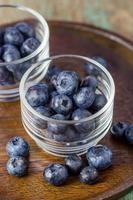 blåbär i ett skålglas