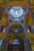 barcelona katedral interiör, Katalonien, Spanien foto