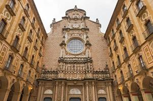 santa maria de montserrat kloster i katalonien, Spanien