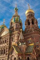 kyrka eller frälsaren av spelat blod, St Petersburg, Ryssland foto