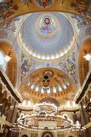målningen på kupolen på katedralen i havet nikolsokgo. Kronstadt foto