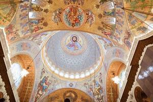 målningen på kupolen på katedralen i havet nikolsokgo. foto