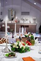candelabrum bröllop dekoration foto