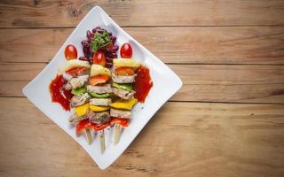 grillspett färgglada kabobs foto