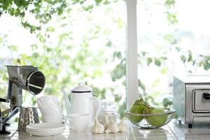 kök på morgonen foto