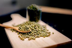 gröna bönor är rika på vitamin B1. foto