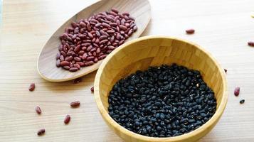 bönor röd svart och jobbs tår multigrain protien mat foto