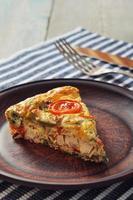 frittata med grönsaker och kyckling