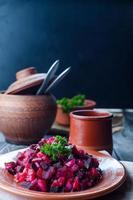 rödbetor sallad vinegret foto