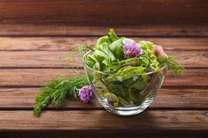 hälsosam grön sallad foto