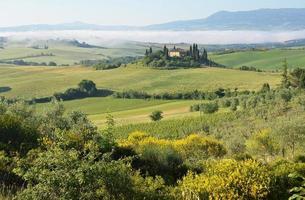 toskanska landskapet. Italien